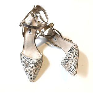 Steve Madden rhinestone gold stiletto heels size 9